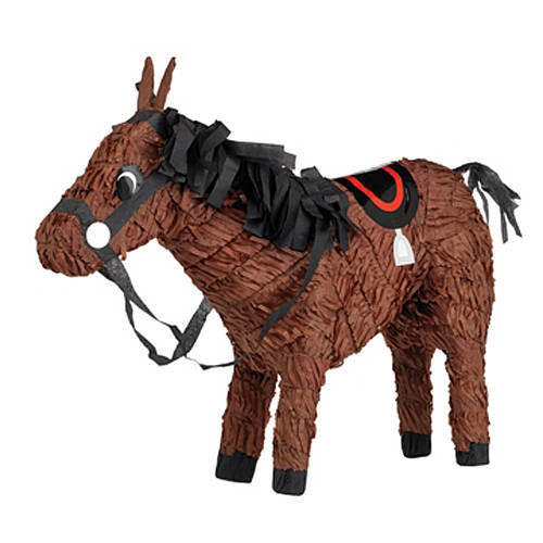 Cute brown horse party pinata