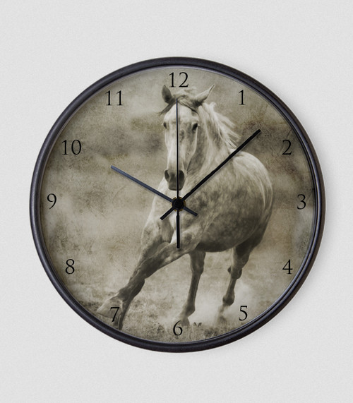 Galloping Horse Roman Numbers Wall Clock