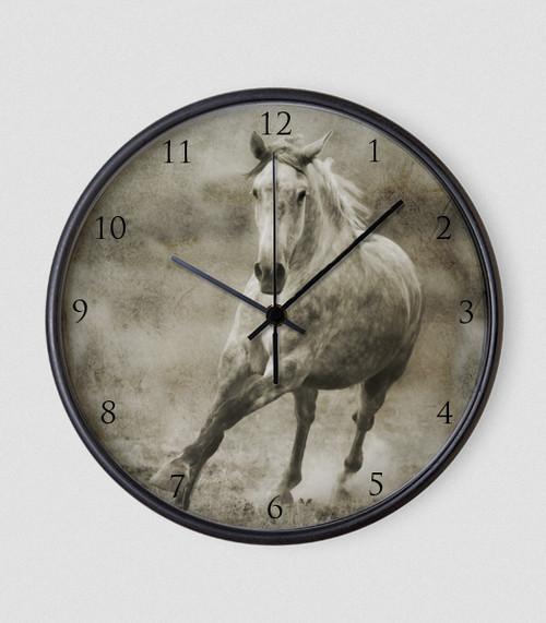 Galloping Horse Roman Numbers Wall Clock