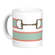Equestrian Ribbon Bit Pattern Mug