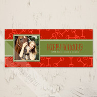 Horse Bits Equestrian Photo Christmas Card