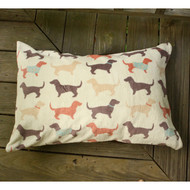 Fun Throw Pillows For Bed : Fun Dachshund Dog Pattern Throw Pillow - The Painting Pony