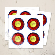 Horse Show Ribbon Equestrian Stickers