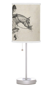 Hunter Jumper themed table lamp