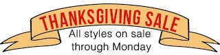 Thanksgiving Sale Banner: all styles on sale through Monday