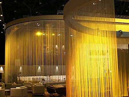 String Curtain Commercial Space Divider