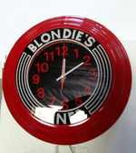 Art Deco Wall Clock With Retro Messages