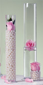 """Tall Base Cylinder Vase 24"""" Great for Formal Centerpieces"""
