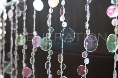 Hanging Doorway Beaded Curtain Champagne Bubble Crystal Beads