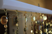 Doorway Beaded Curtains Champagne Bubbles Gold
