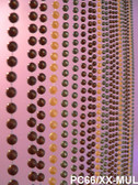 Doorway Beaded Curtains Faux Metal Balls Multi Colored