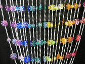 Doorway Beaded Curtains Iridescent Daisies Rainbow