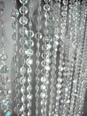 9 Foot Length Beaded Curtains Iridescent Diamond Cut Crystal
