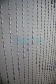 Hanging Doorway Beaded Curtains Iridescent Raindrops White Beads