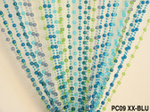 Doorway Beaded Curtains Pearl Balls Blue