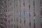 Doorway Beaded Curtains Pendant Swirl Pink