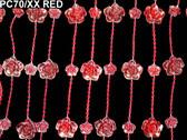Doorway Beaded Curtains Red Roses
