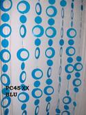 Doorway Beaded Curtains Retro Circles Blue