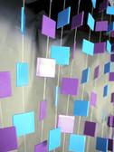 Doorway Beaded Curtains Retro Squares Blue/Purple