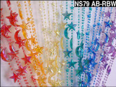 Doorway Beaded Curtains Star & Moon Rainbow