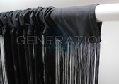 "Black String or Fringe Curtain Extra Long 3 FT Wide X 12 FT Long ( 144"" Inches Long)"