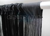 Black Fringe Curtain Extra Long 3 FT W X 12 FT LG