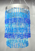 Blue Beaded Chandelier 2 Tiers Cubic Balls Chandelier