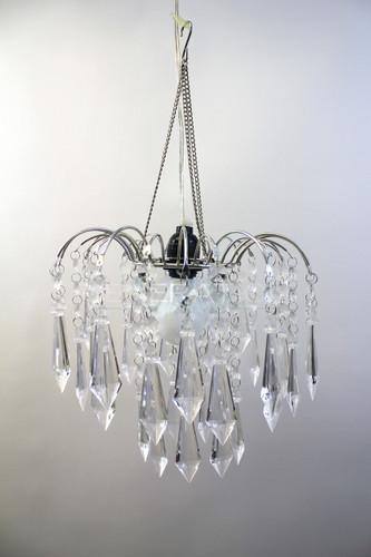 acrylic drop large beaded chandelier hooked