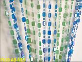 Emerald Cut Blue & Lime Beaded Curtain
