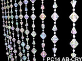 Gemstone Irid Crystal Beaded Curtain