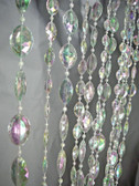Large Pendents in Iridescent Crystal Beads. Extra Long 12 Foot.