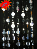 Large Silver PVC Disc Curtain