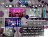 Custom size Beaded Curtains to Create beautiful backdrops and unique decorations