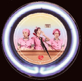 I Love Lucy Neon Wall Clock lunewacl1