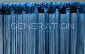 Blue Fringe Curtain