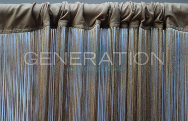 Gold String Curtain
