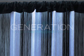Fringe Curtain Black And White Color Combination - Choose the Length!