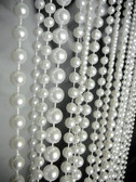 Pearl Ball Chain curtain in 6mm - 8mm - 10mm Strand Combination