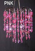 Pink Teardrop/Waterfall Beaded Chandelier