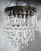 3 Tiered Crystal Large Teardrop Acrylic beaded chandelier.