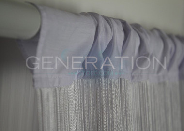 Curtains Ideas 144 inch long length curtains : White String or Fringe Curtain Extra Long 3 Feet Wide X 12 Feet ...