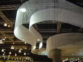 White Fringe Curtain Extra Long 3 FT W X 20 FT  LG