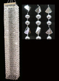 Acrylic beads Chandelier Silver Multi Faceted