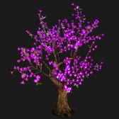Cherry Blossom Tree 4' 8 High 448 LED Lights Purple Color