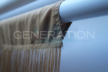 Gold String Fringe Curtain with rod