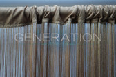 Gold String Fringe curtains to bunch them up to create an even denser look