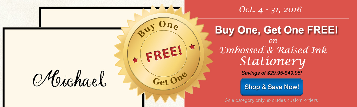 Buy One Get One FREE at StationeryXPress - October Only!