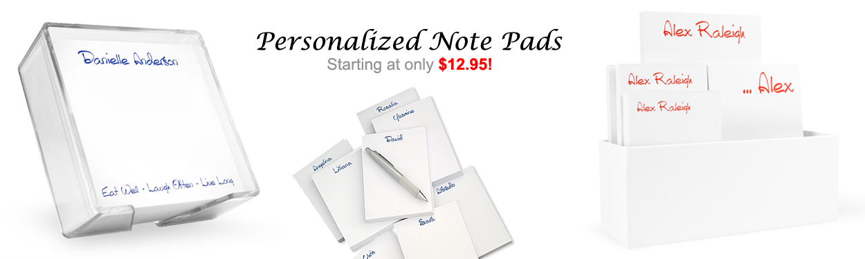 Personalized Note Pads & Memos by StationeryXpress.com
