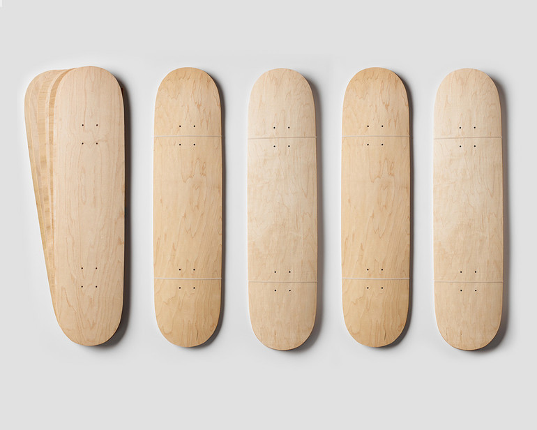 Five sets of Street Deck-shaped maple veneer 7-layer sets