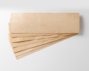 Order as many 7-layer sets as you want, no minimum! Each set of veneer includes 2 cross-grain and 2 face and 3 core sheets.